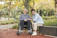 敬老公园陪伴老人散步501105423图片
