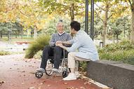 敬老公园陪伴老人散步501105424图片