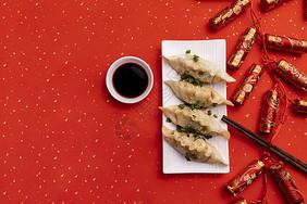 冬至新春饺子图片