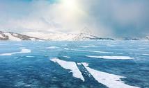冬季冰河图片