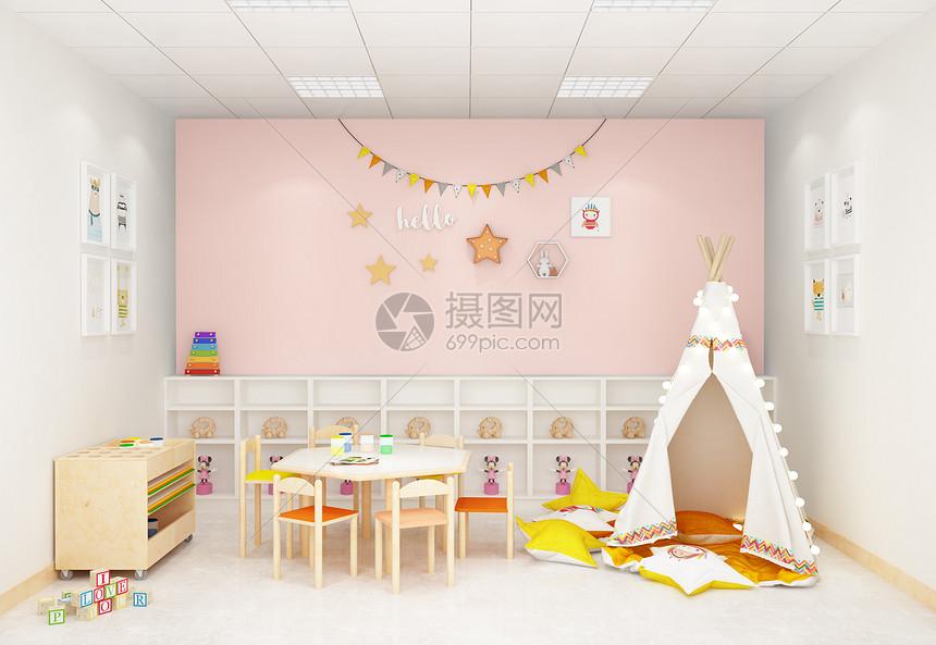 北欧风儿童活动室室内设计效果图图片