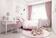 北欧风儿童房卧室室内设计效果图图片