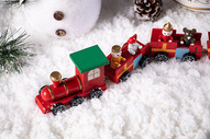 圣诞节小火车图片