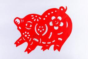 猪年剪纸窗花图片