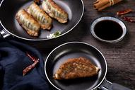 冬至传统年味煎饺图片