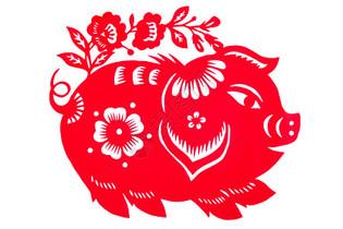 猪年窗花剪纸图片