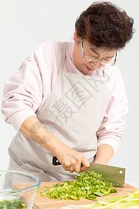 切芹菜剁菜图片
