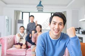 青少年家庭爸爸鼓励形象图片