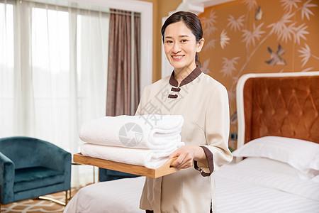 酒店管理保洁员图片