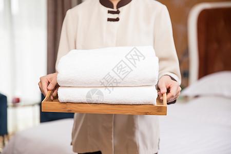 酒店客房浴巾图片
