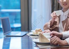 咖啡厅喝下午茶图片