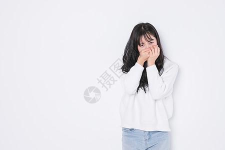 青春期少女伤心图片