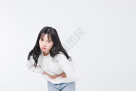 肚子痛的青春期女孩图片