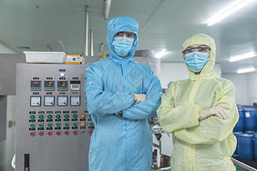 化工厂无菌服形象图片