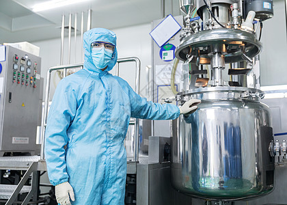 化工厂技术工人无菌服形象图片