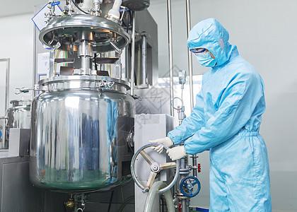 化工厂工人无菌服形象图片