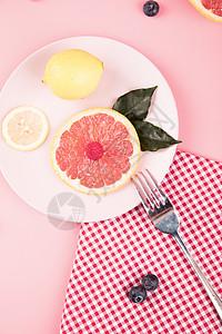 柠檬西柚水果组合图片