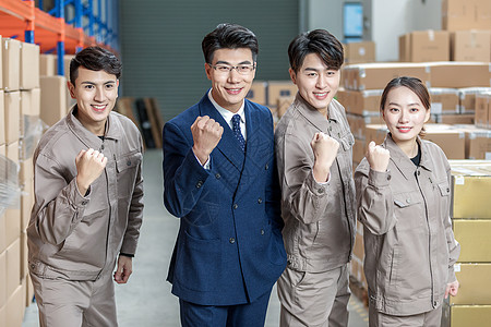 工厂仓库商业人士和工人图片