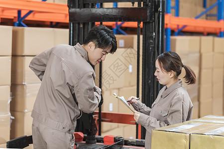 工厂物流工人交流图片