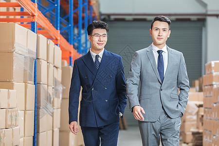 工厂仓库商务人士形象图片