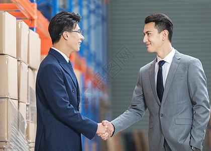 工厂商务合作握手图片