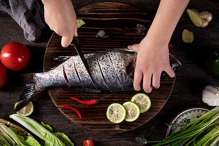 处理鱼肉图片