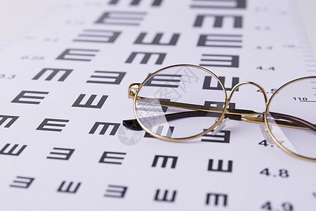 视力表和近视眼镜图片