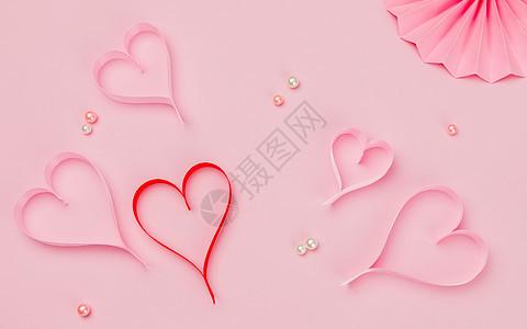情人节粉色背景素材图片