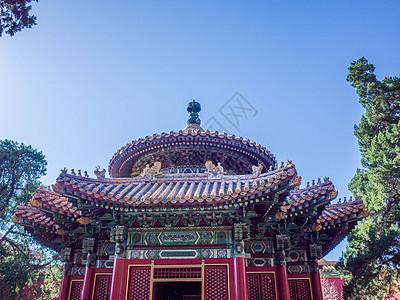北京故宫御花园千秋亭图片