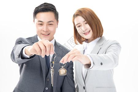 房产中介钥匙交房图片