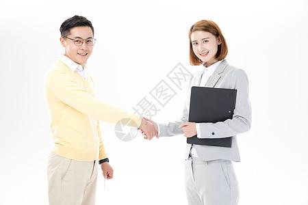 房产销售成交握手图片