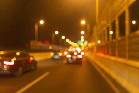 夜晚车流虚化图片