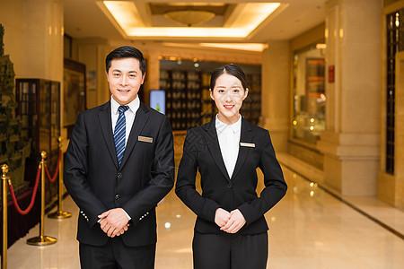 酒店管理服务人员形象图片