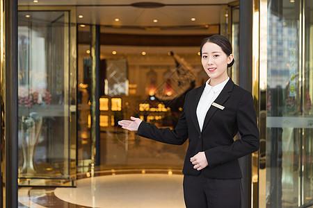 酒店管理商务女性接待图片