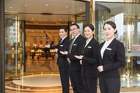 酒店管理商务团队服务形象图片