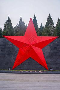 鲜红色的五角星图片