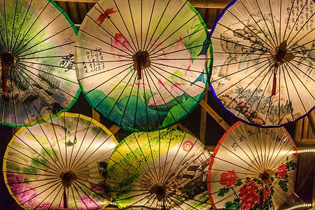 中国传统工艺品油纸伞图片