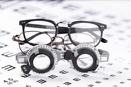 视力表与验光架图片