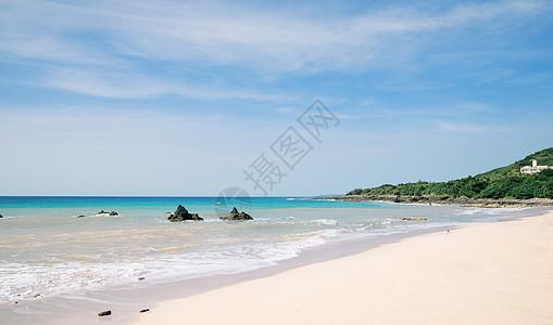 台湾绿岛大白沙图片