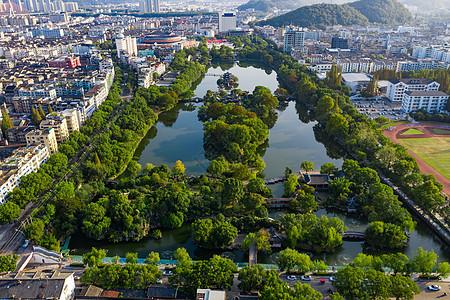 浙江台州城市景观航拍图片