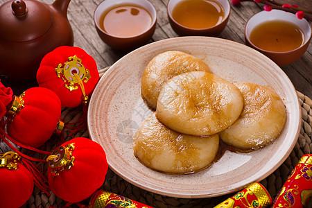 新春红糖糍粑圆饼图片