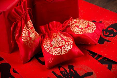 新年礼物福袋春联图片