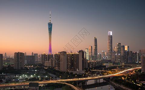 广州城市天际线图片