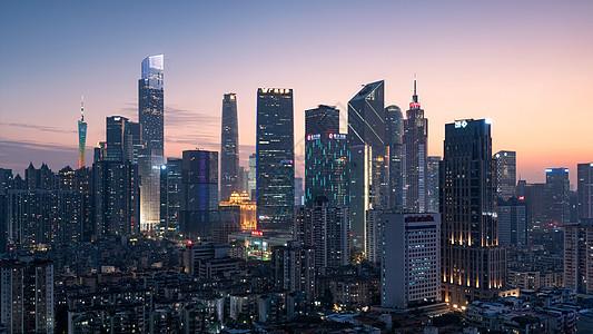 广州夜景城市天际线图片