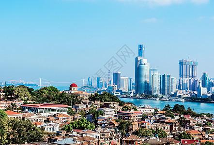 厦门鼓浪屿城市天际线图片
