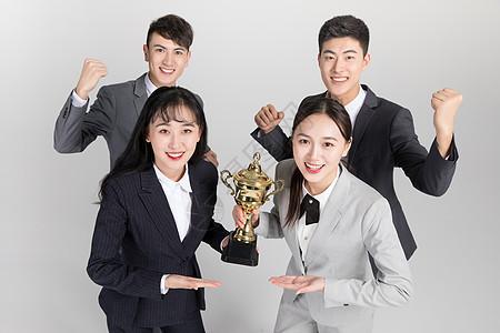 商务团队领奖图片