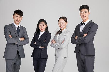 成功自信的商务团队图片