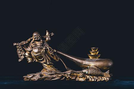 弥勒佛雕像摆件图片
