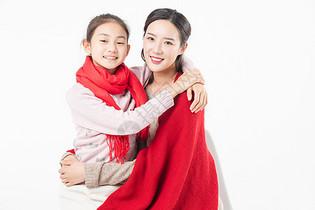 新春母女拥抱图片