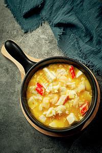 石锅海鲜豆腐图片